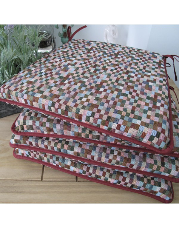 Seat Pads & Cushions, Harlequin Square Tapered Seat Pads