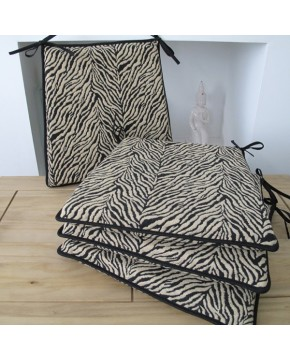 Zebra Square Tapered Seat Pads