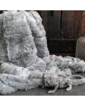 Ash Faux Fur Throw