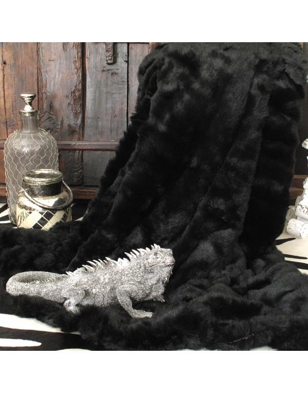 Faux Fur Throws, Black Panther Faux Fur Throw , faux-fur-throws