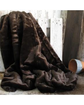 Bison Faux Fur Throw