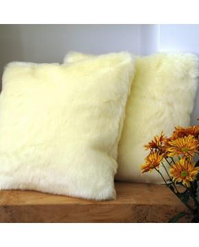 Cream Polar Bear Faux Fur Cushion