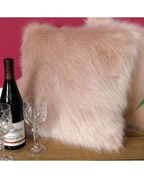 Faux Fur Cushions, Candyfloss Faux Fur Cushion , faux-fur-throws