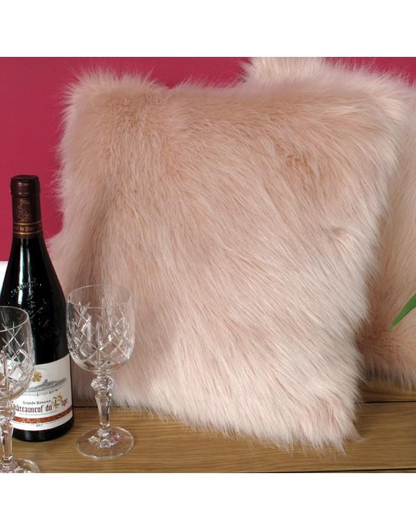 Faux Fur Cushions, Candyfloss Faux Fur Cushion , faux-fur-throws