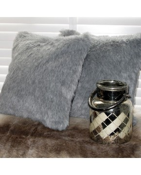 Ash Faux Fur Cushion