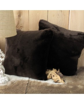 Faux Fur Cushions, Bison Faux Fur Cushion , faux-fur-throws