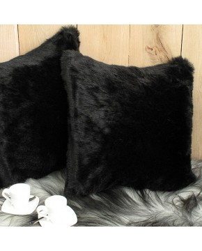 Black Panther Faux Fur Cushion