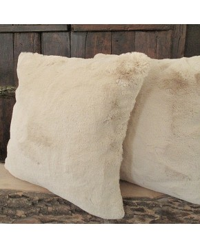 Richmond Beige Faux Fur Cushion
