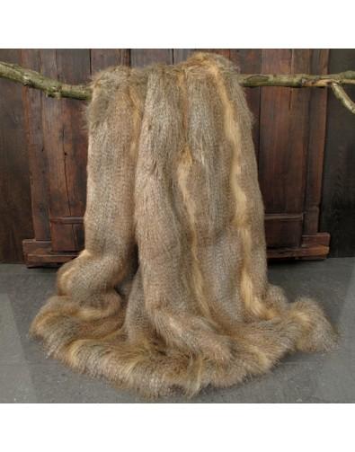 Golden Pheasant Faux Fur Throw