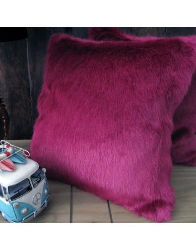 Milano Magenta Faux Fur Cushion