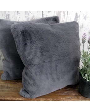 Richmond Slate Faux Fur Cushion
