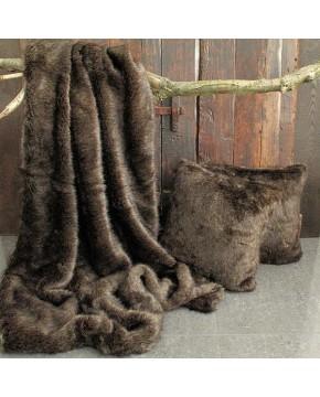 Faux Fur Throw Siberian Sable