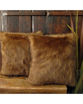 Red Panda Faux Fur Cushion
