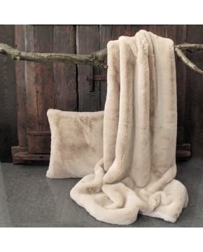 Richmond Beige Faux Fur Throw