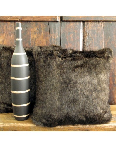 Siberian Sable Faux Fur Cushion