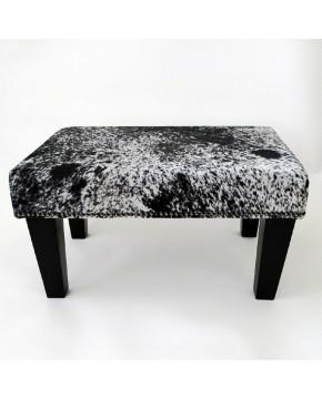 Cowhide Footstools, Small Black Speckled Cowhide foot stool 207