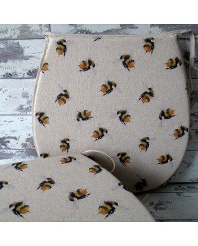Small Bees reversible classic D seat pads