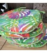 Chair pads in Tropical Leaves design in sets of 4, 6 or 8