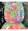 Tropical Leaves rounded luxury seat pads with ties