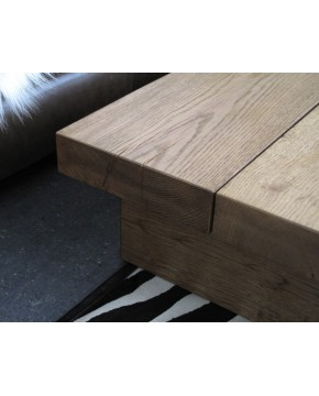 Oak Coffee Tables, Medium 2 Board Solid Oak Coffee Table , faux-fur-throws