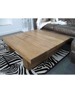 Oak Coffee Tables, Large Square Oak Coffee Table 4 Board Medium , faux-fur-throws