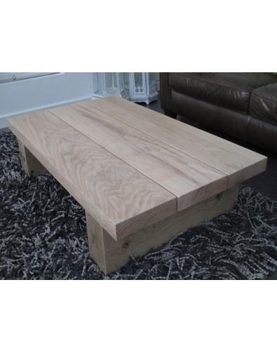 Oak Coffee Tables, Light 3 Board Solid Oak Coffee Table , faux-fur-throws
