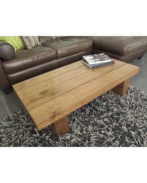 Slim 4 Beam Solid Medium Oak Table