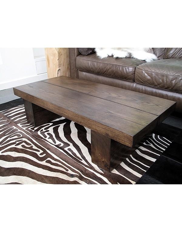 Oak Coffee Tables, Dark 2 Board Solid Oak Coffee Table , faux-fur-throws