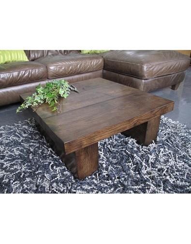 Oak Coffee Tables, Square Solid Dark Oak 3 board Coffee Table , faux-fur-throws