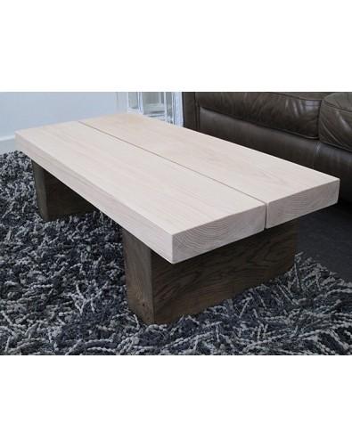 Oak Coffee Tables, Two-Tone 2 Board Solid Oak Coffee Table , faux-fur-throws