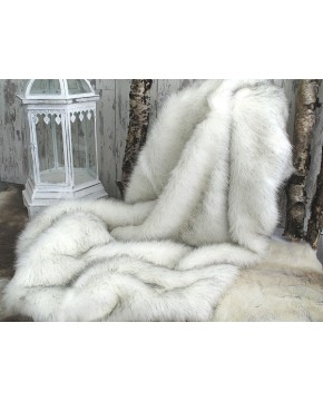 Faux Fur Throws, Arctic Fox Faux Fur Throw , faux-fur-throws