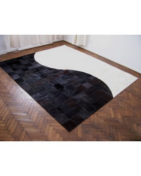 Patchwork Cowhide Rugs, Contemporary Patchwork Cowhide Rug 520 , faux-fur-throws