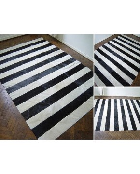 Patchwork Cowhide Rugs, Striped Patchwork Cowhide Rug 425 , faux-fur-throws