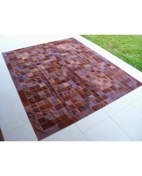 Patchwork Cowhide Rugs, Brown Cowhide Rug with Border X019 , faux-fur-throws