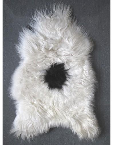 Sheepskin Rugs, Black & White Icelandic Sheepskin Rug 0138 , faux-fur-throws