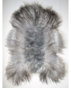 Sheepskin Rugs, Grey Icelandic Sheepskin Rug 0124 , faux-fur-throws