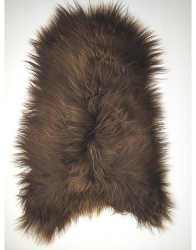 Sheepskin Rugs, Rusty Brown Icelandic Sheepskin Rug 0127 , faux-fur-throws