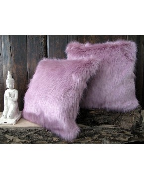 Faux Fur Cushions, Faux Fur Cushion Foxglove , faux-fur-throws