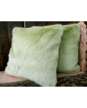 Faux Fur Cushions Spring Willow