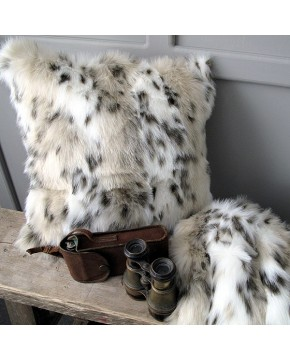 Siberian Lynx Faux Fur Cushion