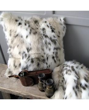 Siberian Lynx Faux Fur Cushion