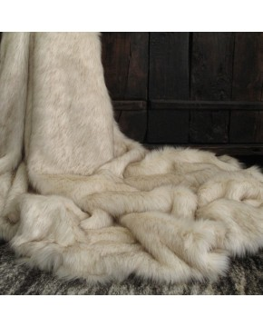 Saharan Fox Faux Fur Throw