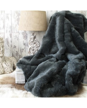 Badger Faux Fur Throw