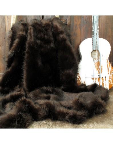 Faux Fur Throws, Brown Bear Faux Fur Throw , faux-fur-throws