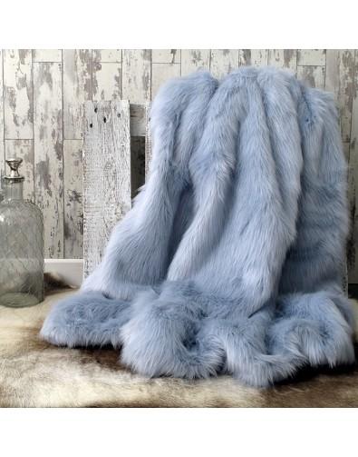 Faux Fur Throws, Baby Blue Faux Fur Throw , faux-fur-throws